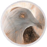Beautiful Racing Pigeon Da Vinci Round Beach Towel