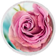 Beautiful Vintage Rose Round Beach Towel
