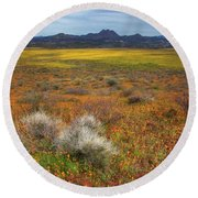 Beauty But For A Moment Round Beach Towel