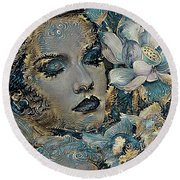Beauty Nestled In Your Bloom 003 Round Beach Towel