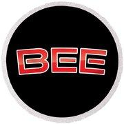 Bee Round Beach Towel