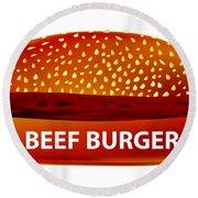 Beef Burger Round Beach Towel