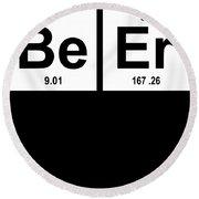 Beer Elements Geeky Funny Science Printed Science Round Beach Towel
