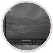 Before Dawn On The Boards Round Beach Towel