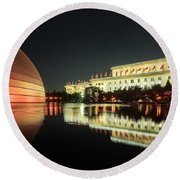 Beijing Art Center  Round Beach Towel