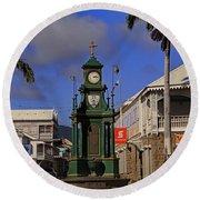 Round Beach Towel featuring the photograph Berkeley Memorial Clock by Tony Murtagh