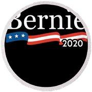Bernie For President 2020 Round Beach Towel