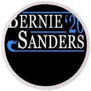 Bernie Sanders Blue Wave 2020 Round Beach Towel