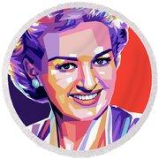Betty Grable Pop Art Round Beach Towel
