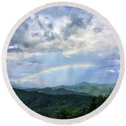 Between The Storms Round Beach Towel