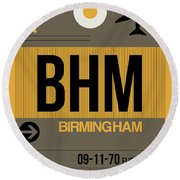 Bhm Birmingham Luggage Tag I Round Beach Towel