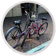 Bicycles City Park New Orleans Round Beach Towel