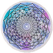 Round Beach Towel featuring the digital art Big Bang by Bee-Bee Deigner