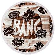 Big Bang Round Beach Towel