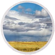 Big Sky Montana Round Beach Towel