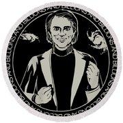 Billions And Billions Of Stars Carl Sagan Space Science Round Beach Towel