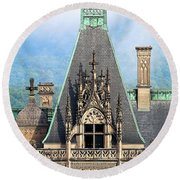 Biltmore Architectural Detail  Round Beach Towel