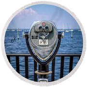 Binocular Viewer Round Beach Towel