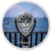 Binocular Viewer Round Beach Towel