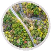 Bird Eye View Round Beach Towel