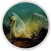 Bird Kingdom 6 Round Beach Towel