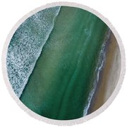 Bird 's Eye View Round Beach Towel