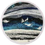 Birds Of Paradise #5 Round Beach Towel