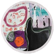 Bisou Round Beach Towel