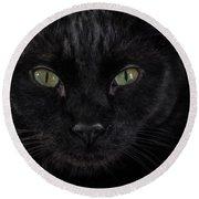 Black Cat Crossed My Path Round Beach Towel