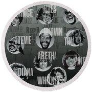 Black Music History Round Beach Towel