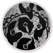 Blackbird Pie Round Beach Towel
