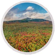Round Beach Towel featuring the photograph Blanketed In Color by Michael Hughes