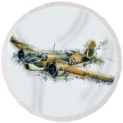 Blenheim Bomber Round Beach Towel