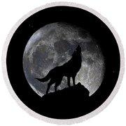 Pre Blood Red Wolf Supermoon Eclipse 873r Round Beach Towel