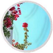 Blooming Beauty Round Beach Towel