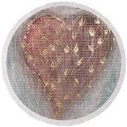 Round Beach Towel featuring the photograph Blossoming Love by Marianna Mills