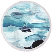 Blue #13 Round Beach Towel