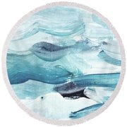 Blue #14 Round Beach Towel