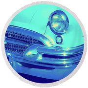 Blue 1955 Buick Special Round Beach Towel