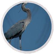 Blue Heron 2011-0322 Round Beach Towel