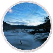Round Beach Towel featuring the photograph Blue Hour by Russell Pugh