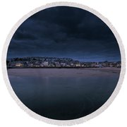 Blue Hour - St Ives Cornwall Round Beach Towel