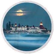 Blue Moon 48x72 Round Beach Towel