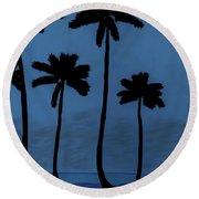 Blue - Night - Beach Round Beach Towel