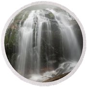 Blue Ridge Mountain Falls Round Beach Towel