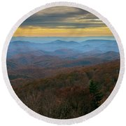 Blue Ridge Parkway - Blue Ridge Mountains - Autumn Round Beach Towel