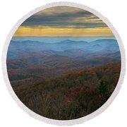 Blue Ridge Parkway - Blue Ridge Mountains - Autumn Round Beach Towel