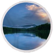 Blue Ridge Parkway - Price Lake - North Carolina Round Beach Towel