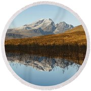 Round Beach Towel featuring the photograph Blue Skye by Stephen Taylor