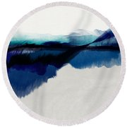 Blue Vista- Art By Linda Woods Round Beach Towel